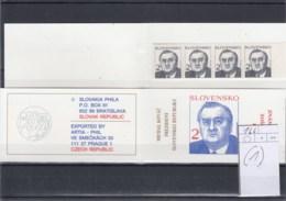 Slowakische Republik Michel Cat.No. Booklet Mnh/** 166 (1) - Unused Stamps