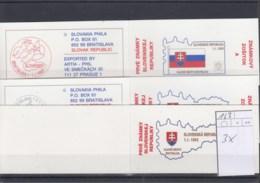 Slowakische Republik Michel Cat.No. Booklet   Mnh/** 163 Three Diff - Unused Stamps
