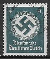 GERMANIA REICH IMPERO 1942  FRANCOBOLLI DI SERVIZIO CROCE UNCINATA SENZA FILIGRANA UNIF.128 USATO VF - Service
