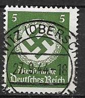 GERMANIA REICH IMPERO 1942  FRANCOBOLLI DI SERVIZIO CROCE UNCINATA SENZA FILIGRANA UNIF.129 USATO VF - Service