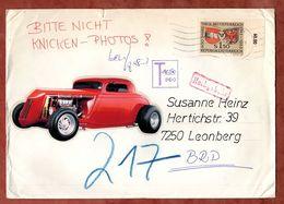 Brief, Tirol, Wien Nach Leonberg, Nachgebuehr 1988 (77264) - 1981-90 Storia Postale