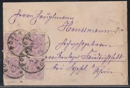 DR Brief Mef Minr.4x 40 K1 Posen 1.3.86 Gel. Nach R3 Friedrichsfeld Bei Wesel 8.3.86 - Deutschland