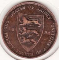 Jersey, 1/24 Shilling 1894. Victoria, Bronze, KM# KM# 7 - Jersey