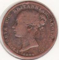 Jersey, 1/26 Shilling 1844. Victoria, Bronze , KM# 2 - Jersey