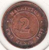 Ile Maurice. 2 Cents 1877 H, Victoria. KM# 8 - Mauricio