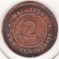Ile Maurice. 2 Cents 1877 H, Victoria. KM# 8 - Mauritius