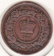 Canada. Nova Scotia / Nouvelle Ecosse 1 Cent 1861. Victoria - Canada