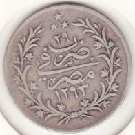 Empire Ottoman. 10 Qirsh AH 1293 H Year 29. Abdul Hamid II, En Argent. KM# 295 - Egipto