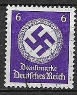 GERMANIA REICH IMPERO 1942  FRANCOBOLLI DI SERVIZIO CROCE UNCINATA SENZA FILIGRANA UNIF.130 USATO VF - Service