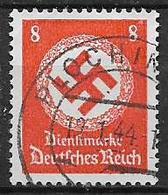 GERMANIA REICH IMPERO 1942  FRANCOBOLLI DI SERVIZIO CROCE UNCINATA SENZA FILIGRANA UNIF.131 USATO  VF - Service