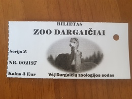 Lithuania Litauen Ticket Zoo Alpaca - Tickets - Entradas