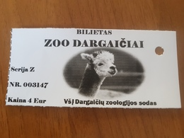 Lithuania Litauen Ticket Zoo Alpaca - Tickets - Vouchers
