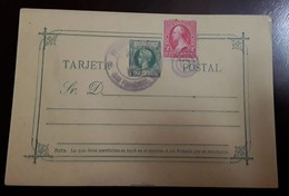 O) 1901 PHILIPPINES. US POSSESSIONS, KING ALFONSO XIII, STAMP WASHINGTON 2c, MILITARY STATION, XF - Philippines