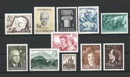Österreich Jahrgang 1960 Postfrisch - 1945-60 Unused Stamps