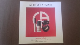 Echantillons Fond De Teint ( Neuf ) De Giorgio Armani - Produits De Beauté