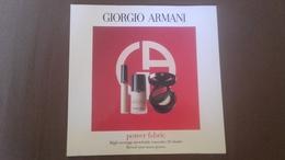 Echantillons Fond De Teint ( Neuf ) De Giorgio Armani - Beauty Products