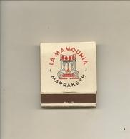 Pochette Allumettes LASTAR De 1960 Neuve Et Pleine:LA MAMOUNIA à Marrakech - Boites D'allumettes