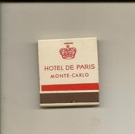 Pochette Allumettes LASTAR De 1957 Neuve Et Pleine:HOTEL DE PARIS MONTE-CARLO - Boites D'allumettes