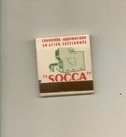 Pochette Allumettes LASTAR De 1954 Neuve Et Pleine:Carbo Fuel SOCCA - Boites D'allumettes