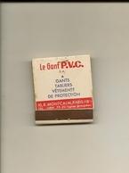 Pochette Allumettes LASTAR De 1955 Neuve Et Pleine:Le Gant P.V.C Un Gant De Fer - Boites D'allumettes