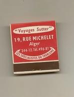 Pochette Allumettes LASTAR De 1956 Neuve Et Pleine:Voyages SUTTER à ALGER - Boites D'allumettes
