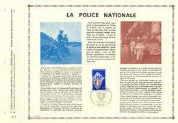 """"""" POLICE NATIONALE """" Sur Feuillet PAC 1er Jour De 1976 (précurseur Des CEF 1500 Ex. Seulement). N°YT 1883  Parf état FDC - Politie En Rijkswacht"""