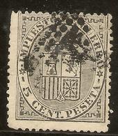España Edifil 141 (º)  5 Céntimos Negro  Escudo España  1874   NL1043 - 1873-74 Regentschaft