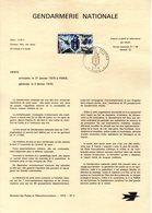 """"""" GENDARMERIE NATIONALE """" Sur A4 1er Jour De 1970. N° YT 1622  Parfait état FDC - Polizei - Gendarmerie"""