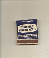 Pochette Allumettes LASTAR De 1958 Neuve Et Pleine:Teinturerie HENAULT MOREL Grandes Villes De L'Ouest - Boites D'allumettes