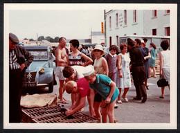Photo Ancienne 70's Snapshot 12 X 9 - Voiture Citroën 2CV Immatriculée Vendée Marchand D'animaux Sh92 - Cars