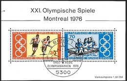 V) 1976 GERMANY, OLYMPIC GAMES, MONTREAL, CANADA, USED - [7] Federal Republic