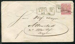 NDP / 1868 / Ganzsachenumschlag Mi. U 1A R3-Stempel NEUNKIRCHEN (22131) - Conf. De L' All. Du Nord