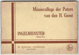 INGELMUNSTER - Missiecollege Der Paters Van Den H. Geest - Kompleet Mapje 10 Kaarten - Grootformaat - Ingelmunster