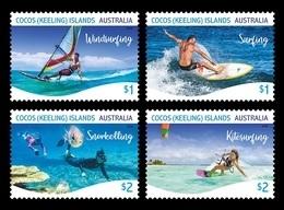 Cocos (Keeling) Islands 2019 Mih. 535/38 Water Sports MNH ** - Kokosinseln (Keeling Islands)