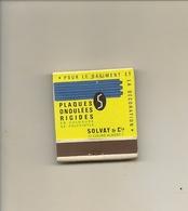 Pochette Allumettes LASTAR De 1960 Neuve Et Pleine:SOLVAY & Cie Plaques Ondulées Rigides - Boites D'allumettes