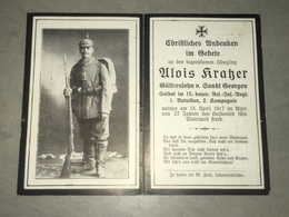 Sterbebild Wk1 Ww1 Bidprentje Avis Décès Deathcard RIR15 CHEVREUX CERNY EN LAONNOIS Aus Sankt Georgen - 1914-18