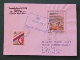 Czech Republic 2019 Cover To Nicaragua - Lion Arms - Painting - Tchéquie