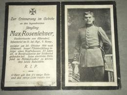 Sterbebild Wk1 Ww1 Bidprentje Avis Décès Deathcard IR13 WICRES VILLAGE Block 2 Grab 392 Aus Allersdorf - 1914-18