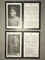 Sterbebild Wk1 Ww1 Bidprentje Avis Décès Deathcard FAR9 ANDECHY Block 3 Gab 286 Hangest En Santerre Aus Knesing - 1914-18
