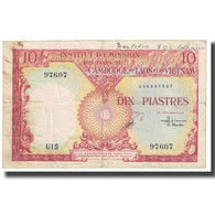 Billet, FRENCH INDO-CHINA, 10 Piastres = 10 Kip, KM:102, TB - Indochina