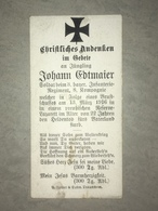 Sterbebild Wk1 Ww1 Bidprentje Avis Décès Deathcard IR3 VERDUN BRIEULLES SUR MEUSE Block 7 Grab 249 - 1914-18