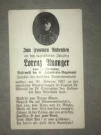 Sterbebild Wk1 Ww1 Bidprentje Avis Décès Deathcard IR8 ST. MAURICE SOUS LES CÔTES Aus Kolbermoor - 1914-18