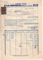 1932 YUGOSLAVIA, SLOVENIA, BLED, JUGO-RHOMBERG, INVOICE ON A FACTORY LETTERHEAD,TO KNJAZEVAC, SERBIA, 1 FISKAL STAMP - Invoices & Commercial Documents