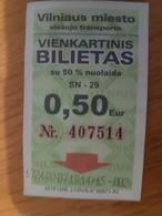 Lithuania Litauen Vilnius Bus Ticket 2019 - Europa