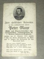 Sterbebild Wk1 Ww1 Bidprentje Avis Décès Deathcard RIR1 ARRAS St. Laurent Blangy Aus Traunwalchen Oktober 1914 - 1914-18