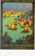 Chemin De Fer D'Orleans - Cote Sud De Bretagne (Audierne)  - Publicité  -  Artiste: Alo  -  Ed.Clouet CPM - Chemins De Fer