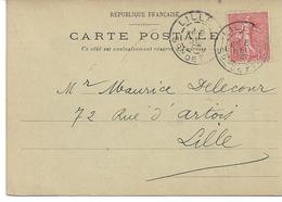 CARTE-POSTALE  FIVES-LILLE NORD  Ets LEFEVRE DAUDOIS 44 Rue Du Calvaire Cachet Section De Fives - Marcofilie (Brieven)