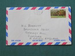 Canada 1973 Cover To England - Police On Horse (stamp Damaged) - 1952-.... Elizabeth II