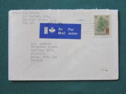 Canada 1979 Cover To England - Pine Tree - 1952-.... Elizabeth II