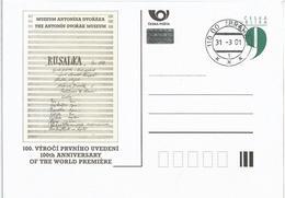 CDV B 313 Czech Republic Centenary Of Dvorak's Water Nymph 2001 - Musik
